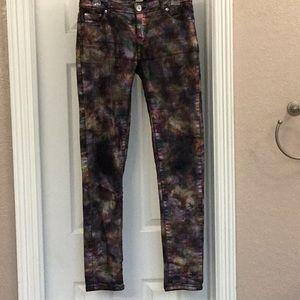 Justice Premium Jeans Rainbow Psychadelic Metallic